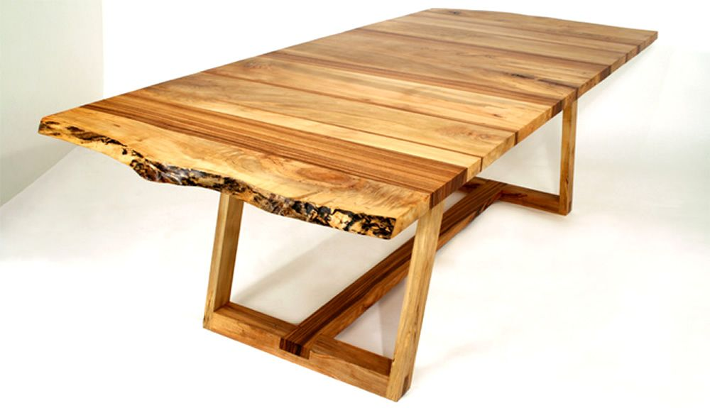 solid spalted maple and zebra wood dining table design of bandwidth rh pinterest de