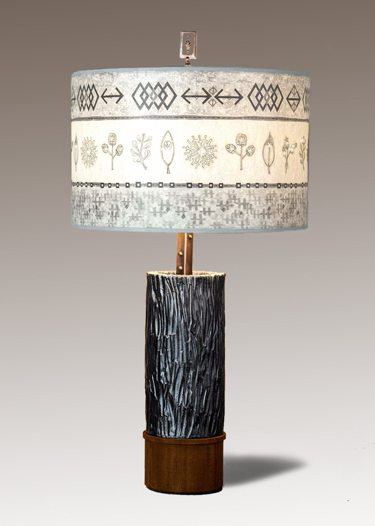 woven spring mist ceramic wood table lamp products mists rh pinterest com