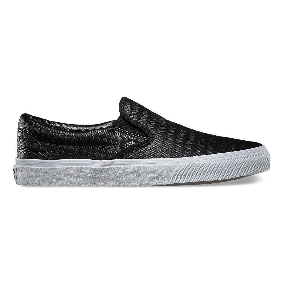 NEW Vans Emboss Weave Slip-On Black Dart Fragment Leather ...