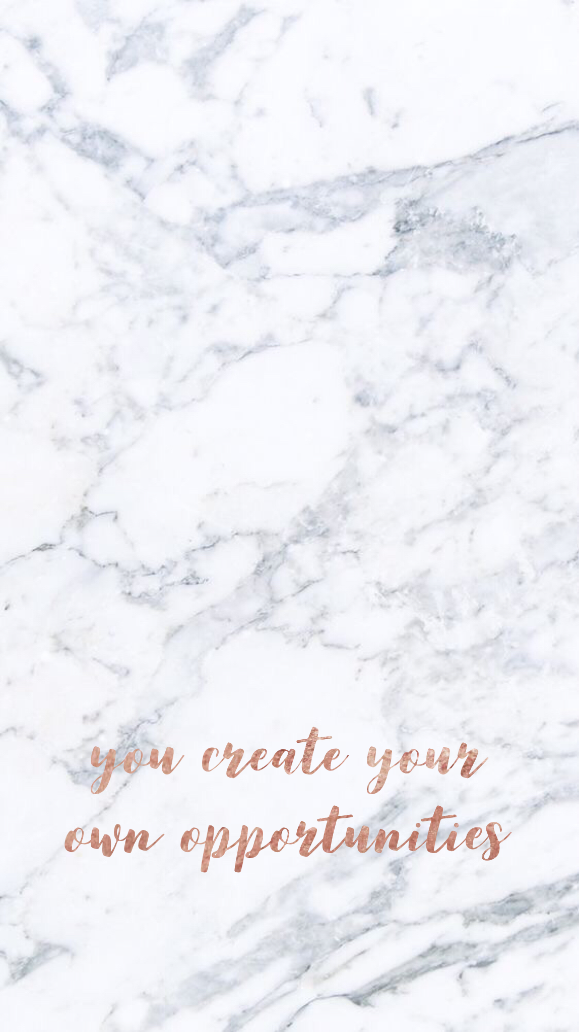 You Create Your Own Opportunities Marble Iphone Wallpaper Marble