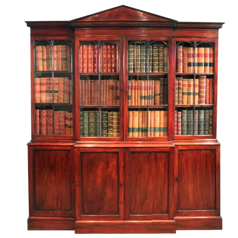 georgian breakfront bookcase 1stdibs com georgian style myo rh pinterest com
