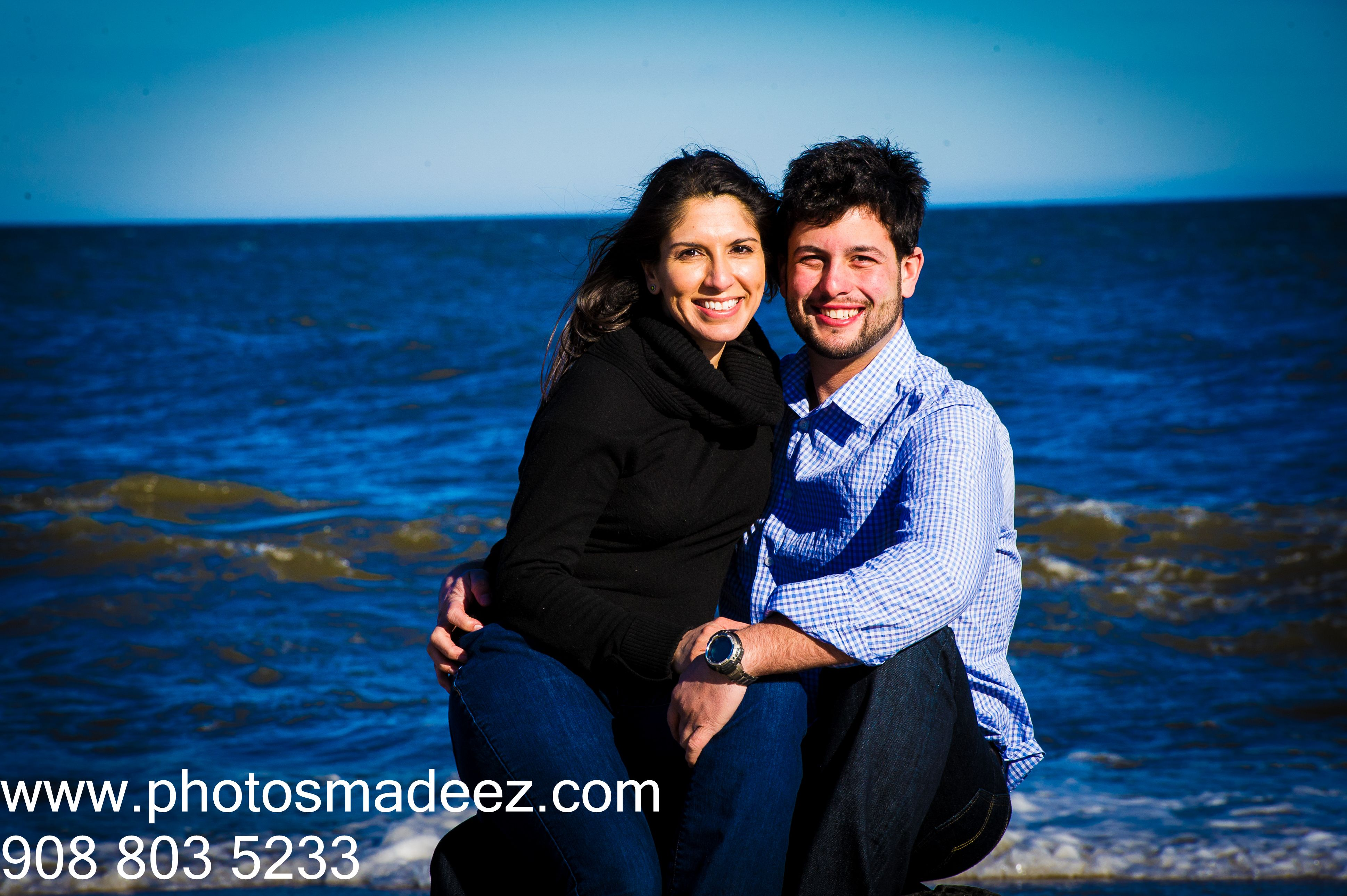 beach wedding in new jersey%0A Engagement Photo for mixed wedding in new jersey  indian bride  american  groom  Engagement