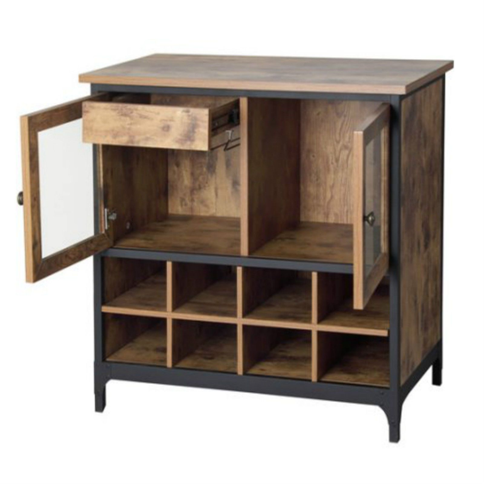 Dry Bar And Wine Cabinet Rustic Wood