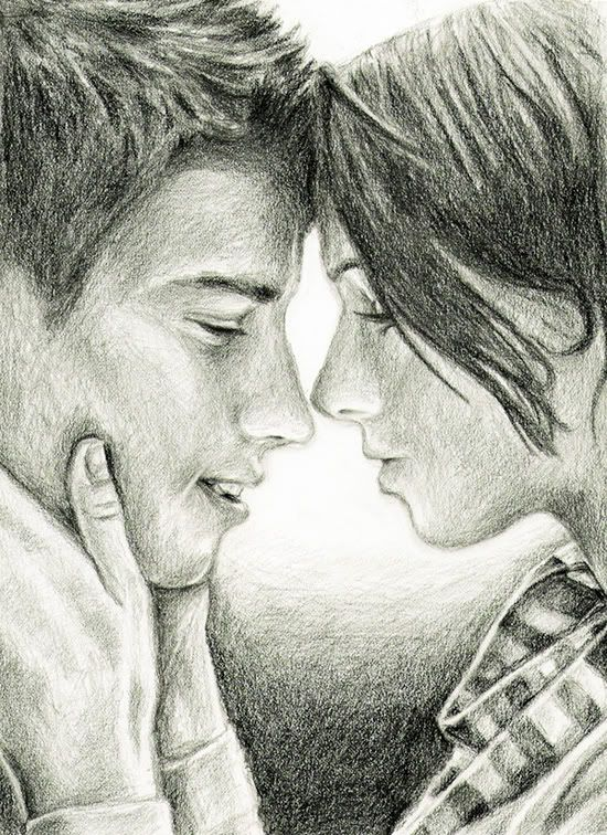 Love couple art and this also reminds me of katniss and peeta