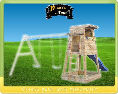 Speeltoren Wickey Pirates nest, houten speeltoestel