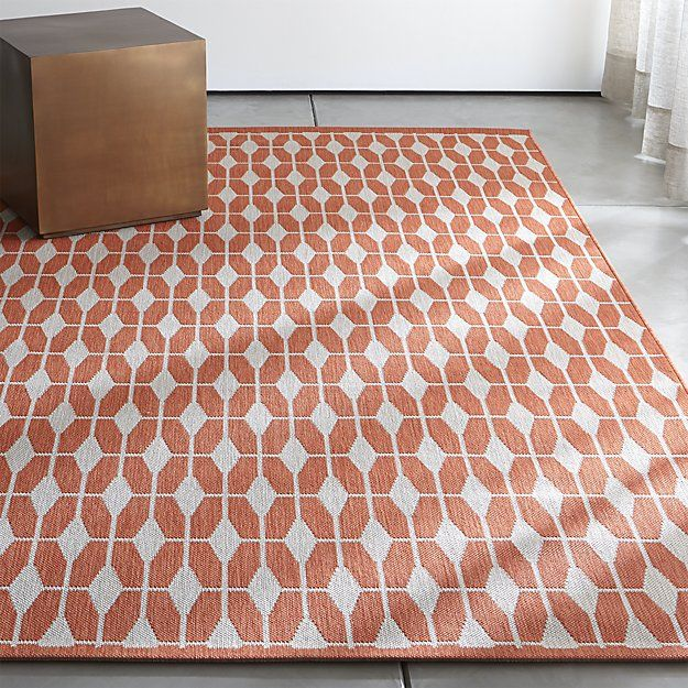 Aldo II Mandarin Orange Indoor-Outdoor Rug | Indoor outdoor rugs ...