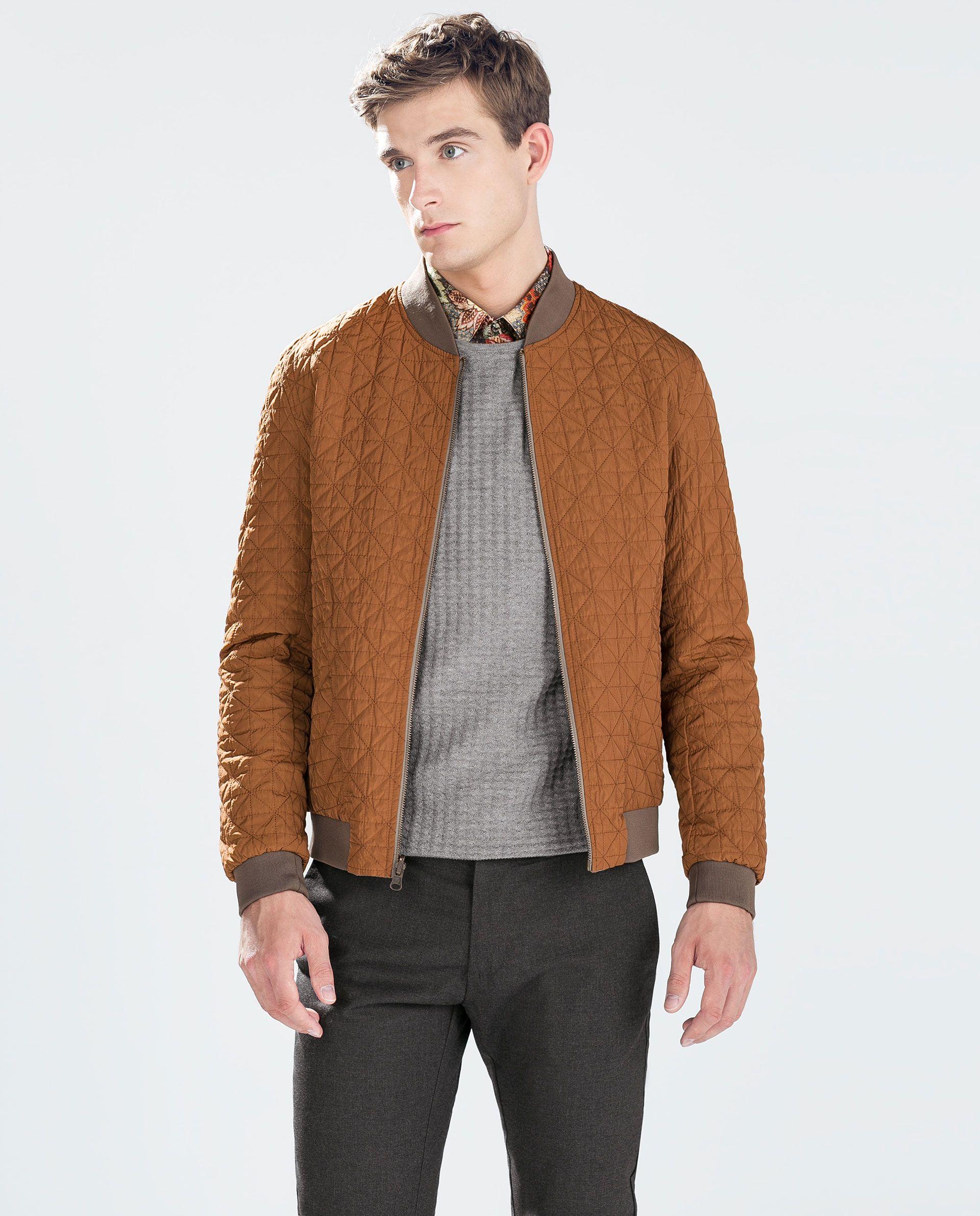 Zara Man Reversible Bomber Jacket Mens Outdoor Jackets Jackets Mens Fashion Classic