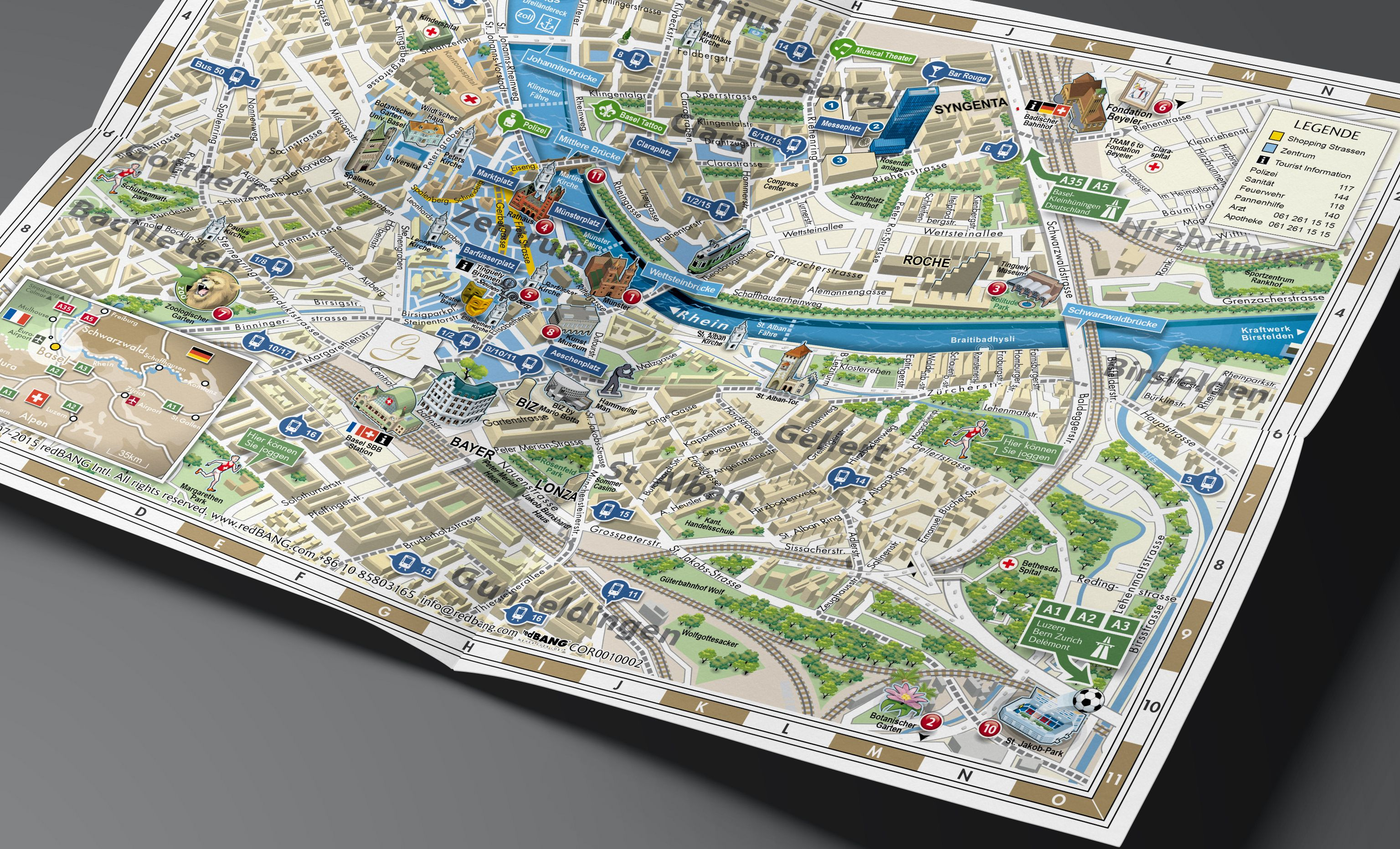 3D Map of Basel designed for Gaia