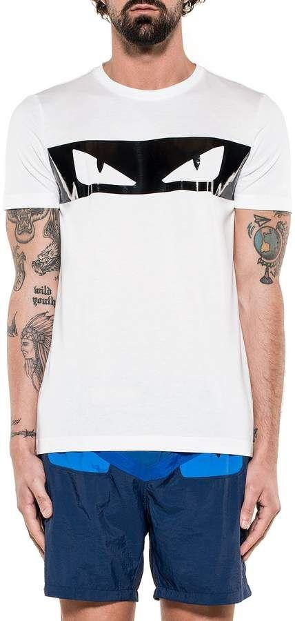 29f4592ea431 White black Bag Bugs Cotton Jersey T-shirt  eyes bugs detail