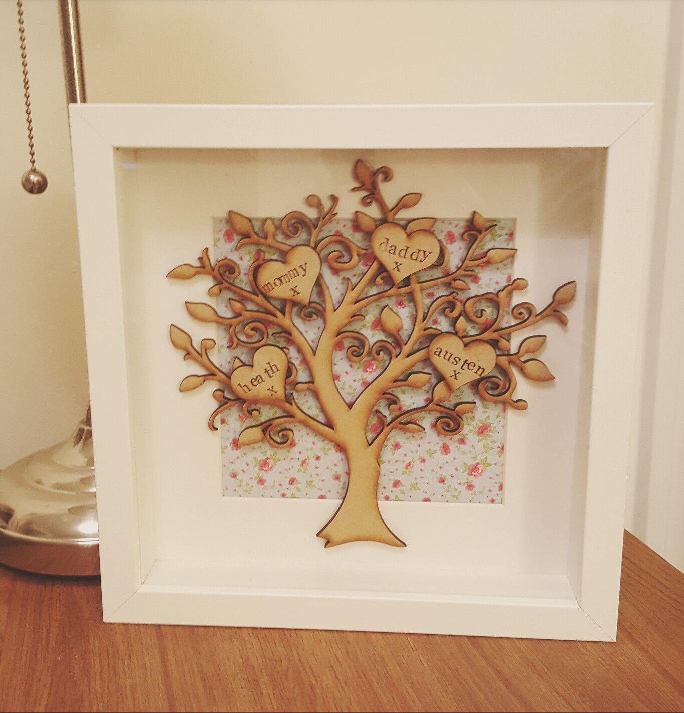 Family tree frame Find us on Facebook @willowboxframes | Hobbi ...