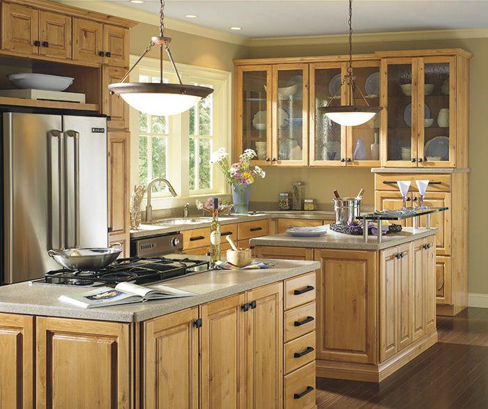 a blend of traditional braeburn cabinets in distressed rustic alder rh pinterest com