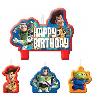 DISNEY TOY STORY III CAKE CANDLE DECORATION SET ~ Birthday Party Supplies Decor