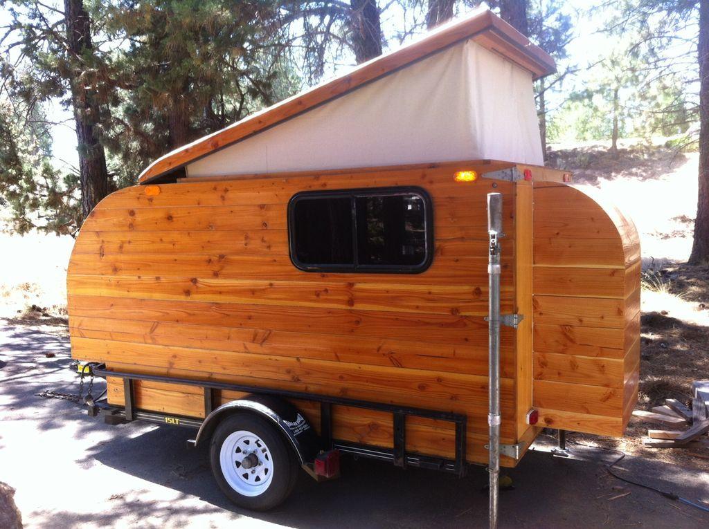 Self Made Wooden Camper Kleine Cabine Teardrop Trailer