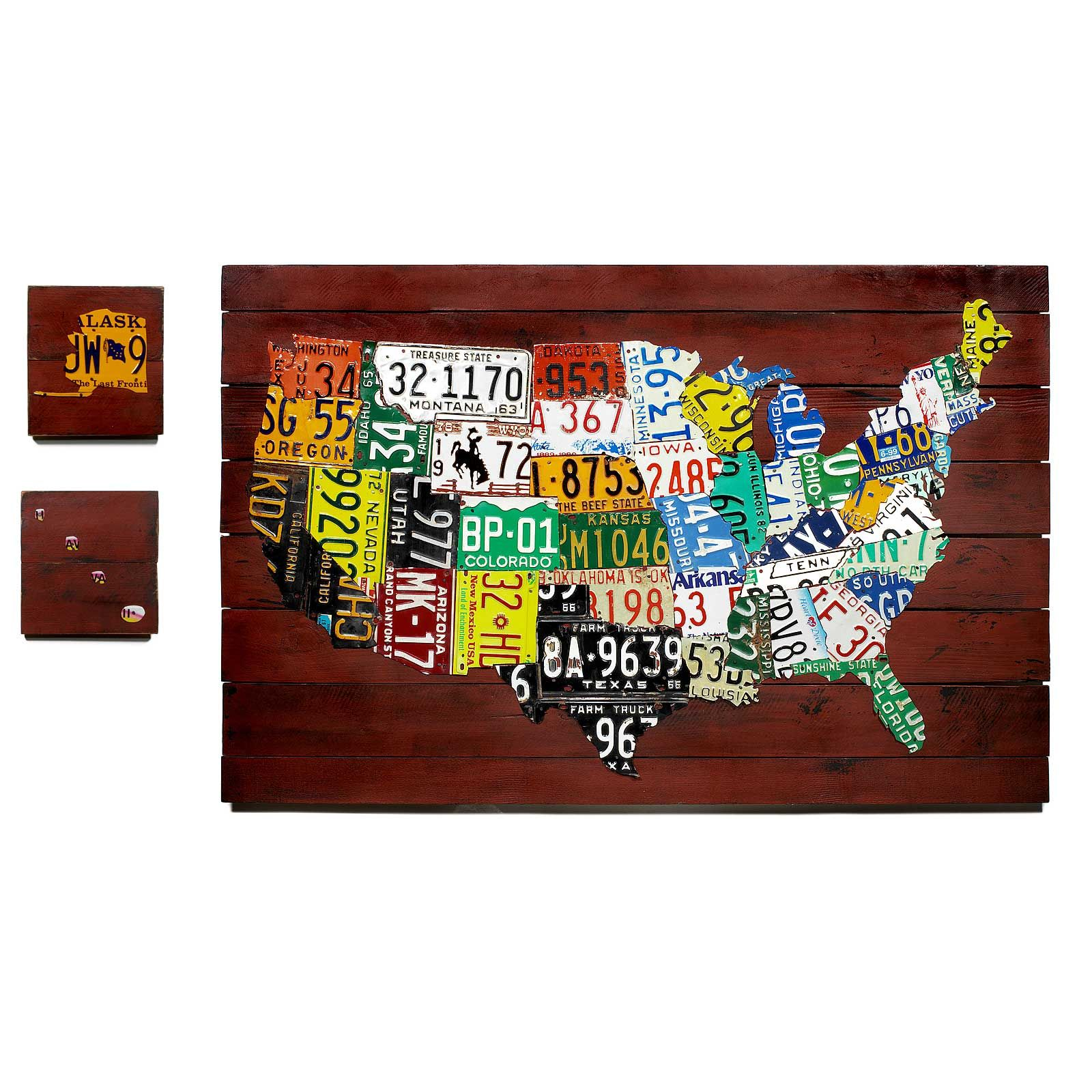 Reclaimed License Plate Map | Products | License plate art ... on state license plates, ohio license plates, preamble license plates, florida license plates, government license plates, germany license plates, pennsylvania license plates, front license plates,
