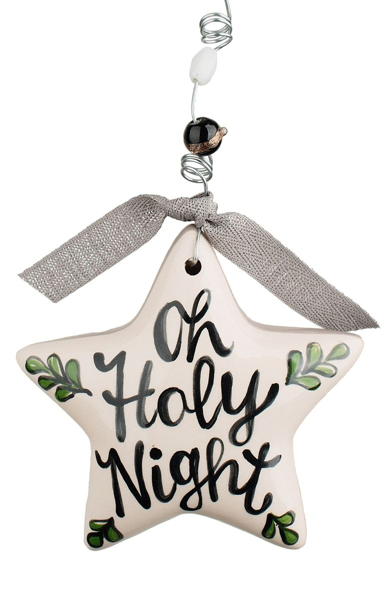 Glory Haus Oh Holy Night Puff Star Ceramic Ornament Nordstrom Painted Christmas Ornaments Ceramic Ornaments Christmas Crafts Decorations