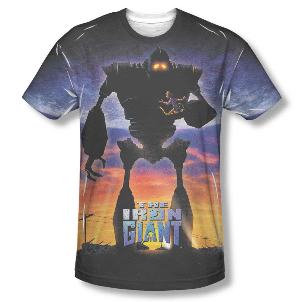Iron Giant Movie GIANT POSTER 2-Sided All Over Print Poly Cotton T-Shirt