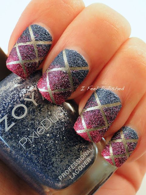 Pixie Dust Striping Tape Nails