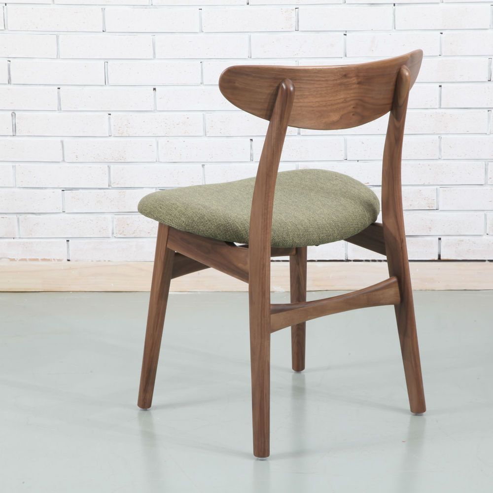 astrid solid walnut dining chair sage green fabric seat buy now rh pinterest com