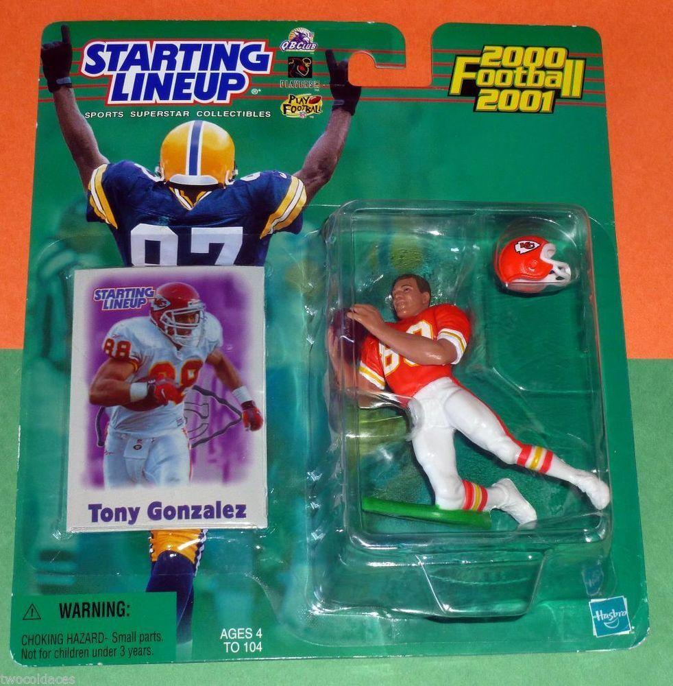 2000 Tony Gonzalez Kansas City Chiefs Rookie Only 4 S H Sole Starting Lineup Hasbro Kansas City Chiefs Lineup Kansas City