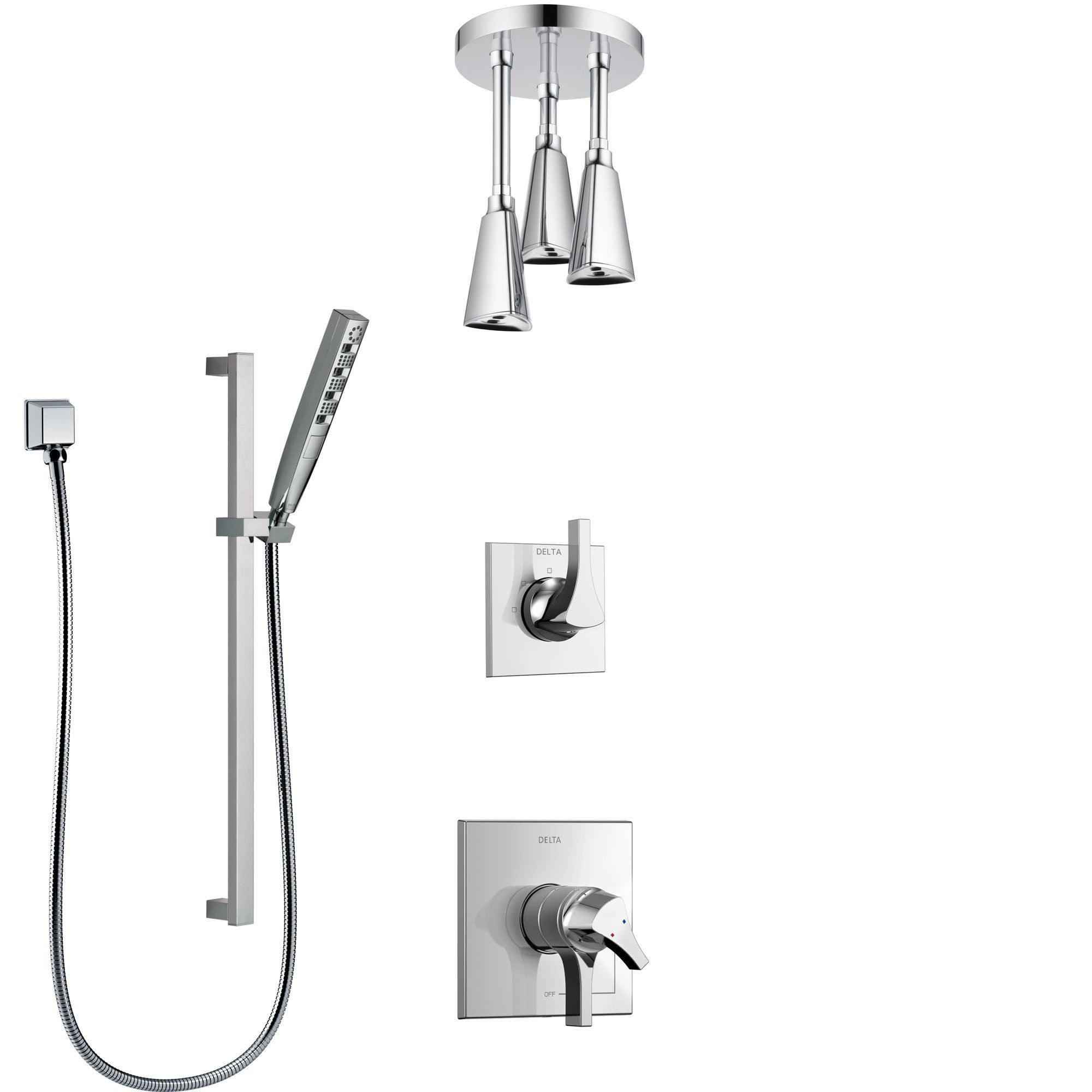 Delta Zura Chrome Finish Shower System With Dual Control Handle 3