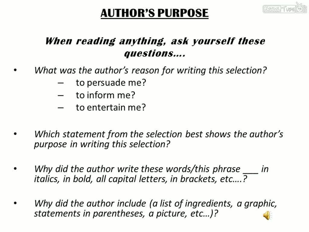 High School Writer S Purpose