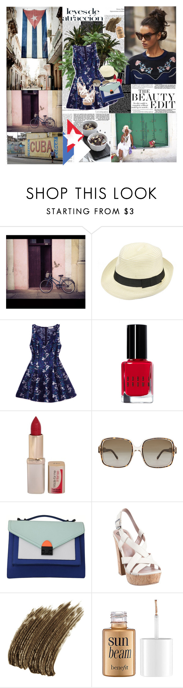 """Cuba"" by miska-miska ❤ liked on Polyvore featuring Opening Ceremony, Bobbi Brown Cosmetics, L'Oréal Paris, STELLA McCARTNEY, Loeffler Randall, Vince Camuto, Yves Saint Laurent, Benefit, women's clothing and women"
