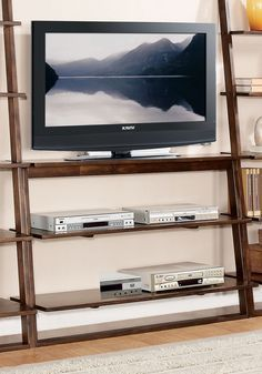 Narrow Ladder Tv Stands For Small Spaces On Pinterest Tv Stands