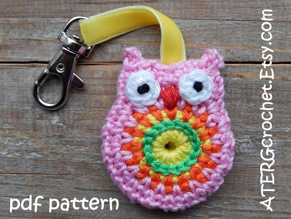 Cute Little Amigurumi Owl : Crochet pattern owl key ring by atergcrochet key rings owl and