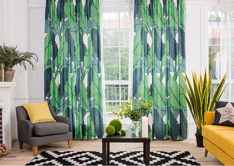 Amazon.com: KARUILU Home Window Curtain With Summer Mood