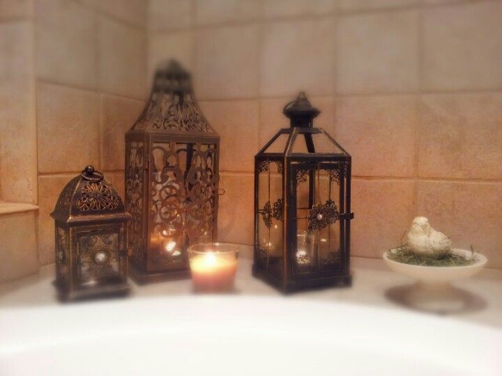 Pier 1 Imports lanterns give a relaxing feel in a bathroom. Pier 1 Imports lanterns give a relaxing feel in a bathroom   Home