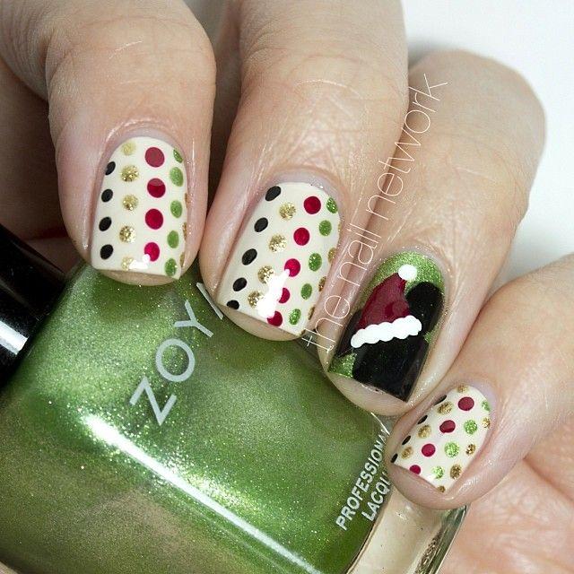 christmas by thenailnetwork #nail #nails #nailart   nails   Pinterest