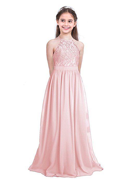 FEESHOW Vestido de fiesta Niña Vestidos de encaje Niña Princesa de ...