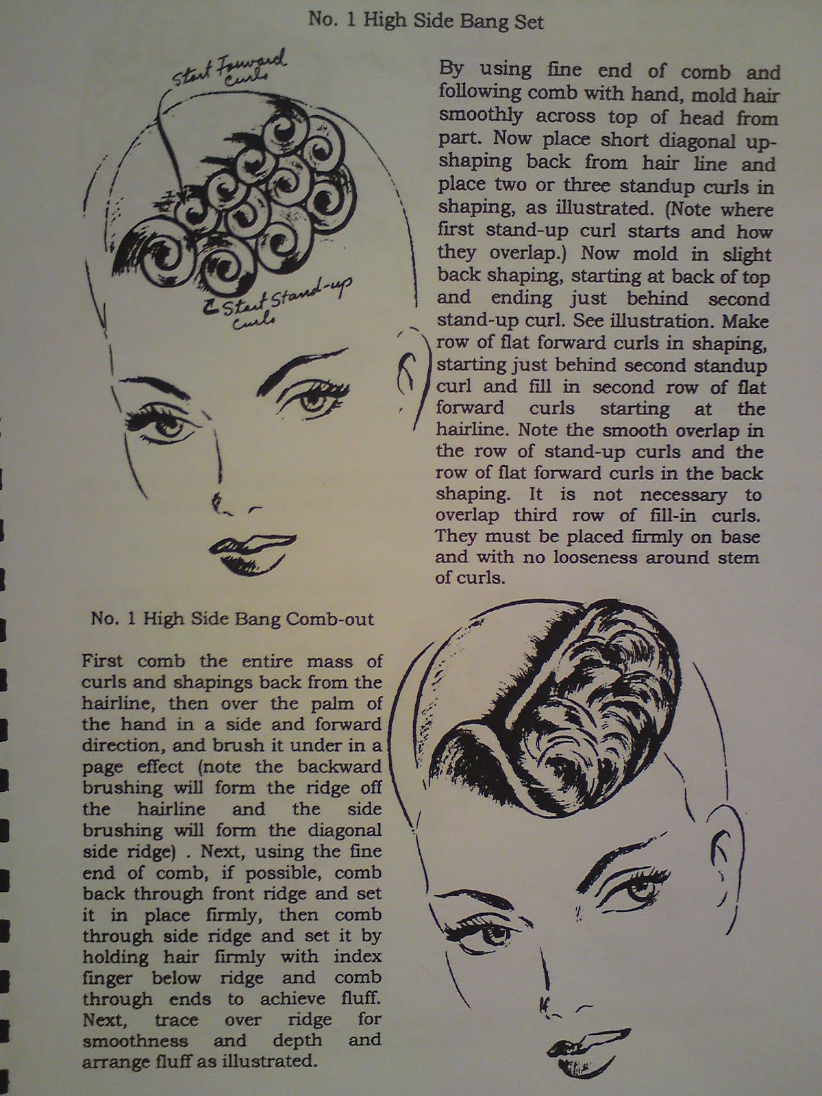 pin curl diagram to work on that front wave finger and marcell rh pinterest com pin curl set diagram marilyn monroe pin curl diagram