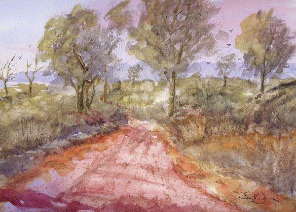 Red Clay Road By Barry Jones Art Street Art Fine Art America