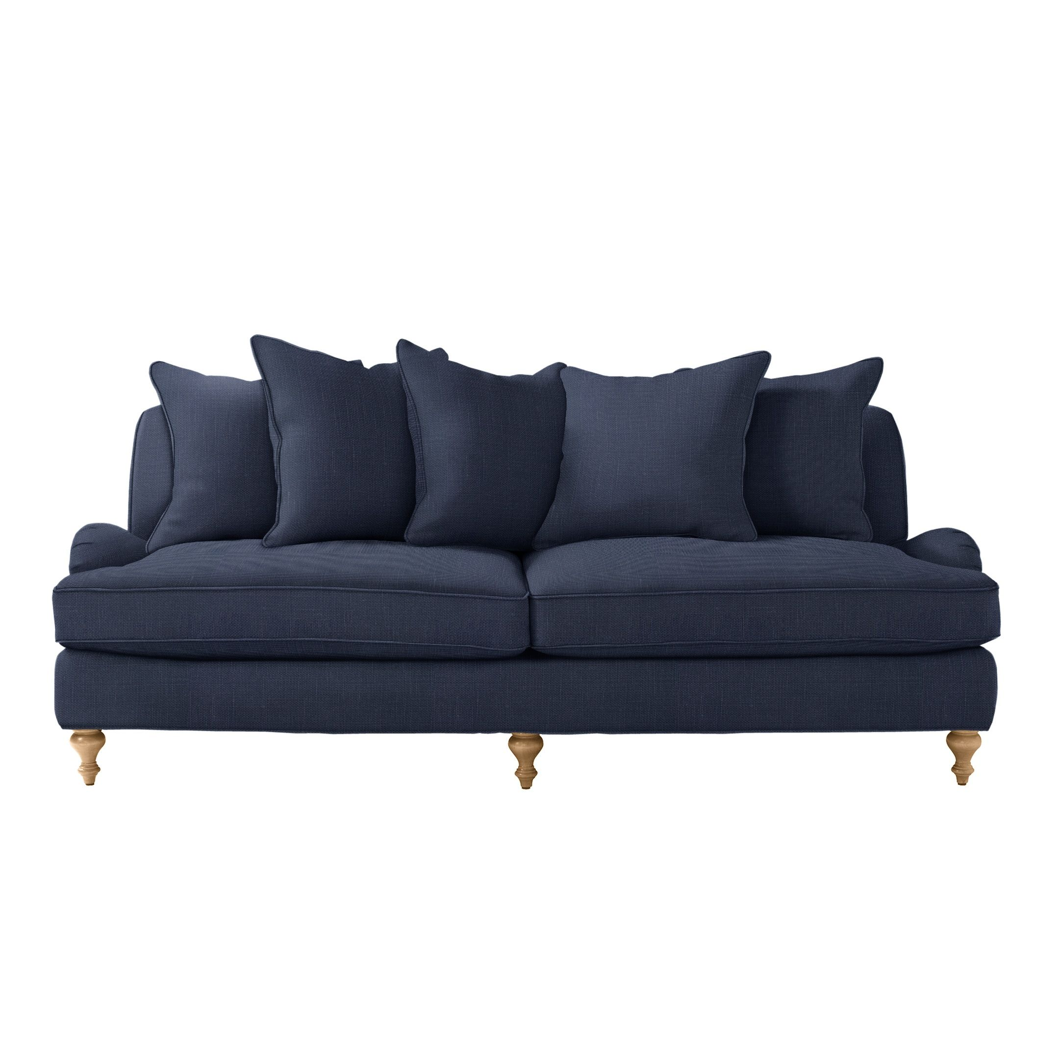 Beautiful Miramar Sofa In Dark Chambray Linen / Serena U0026 Lily