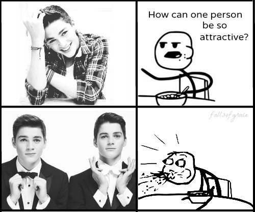 Yes, two people are very attractive. Thanks to Puberty in the UK and for twins existing.