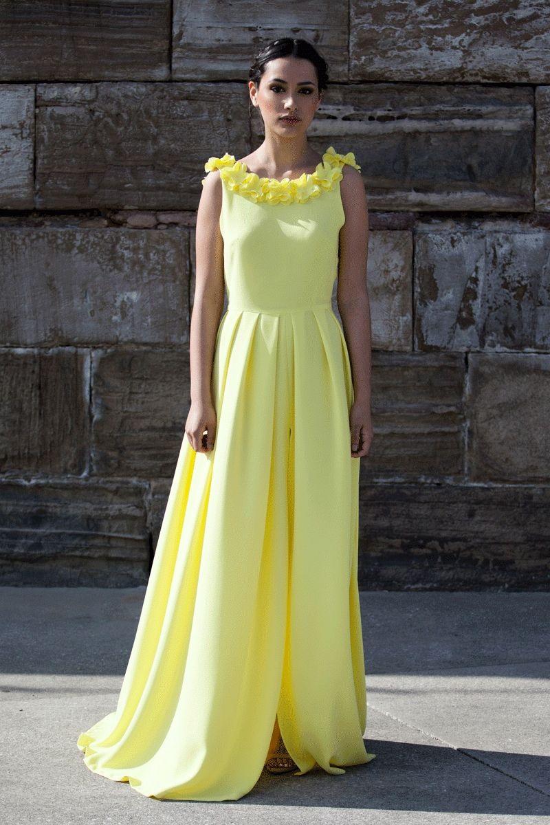 Vestidos largos amarillos fiesta
