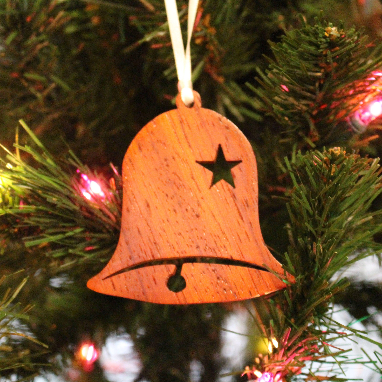 Ornament Bell Star Padauk Em 2020 Natal