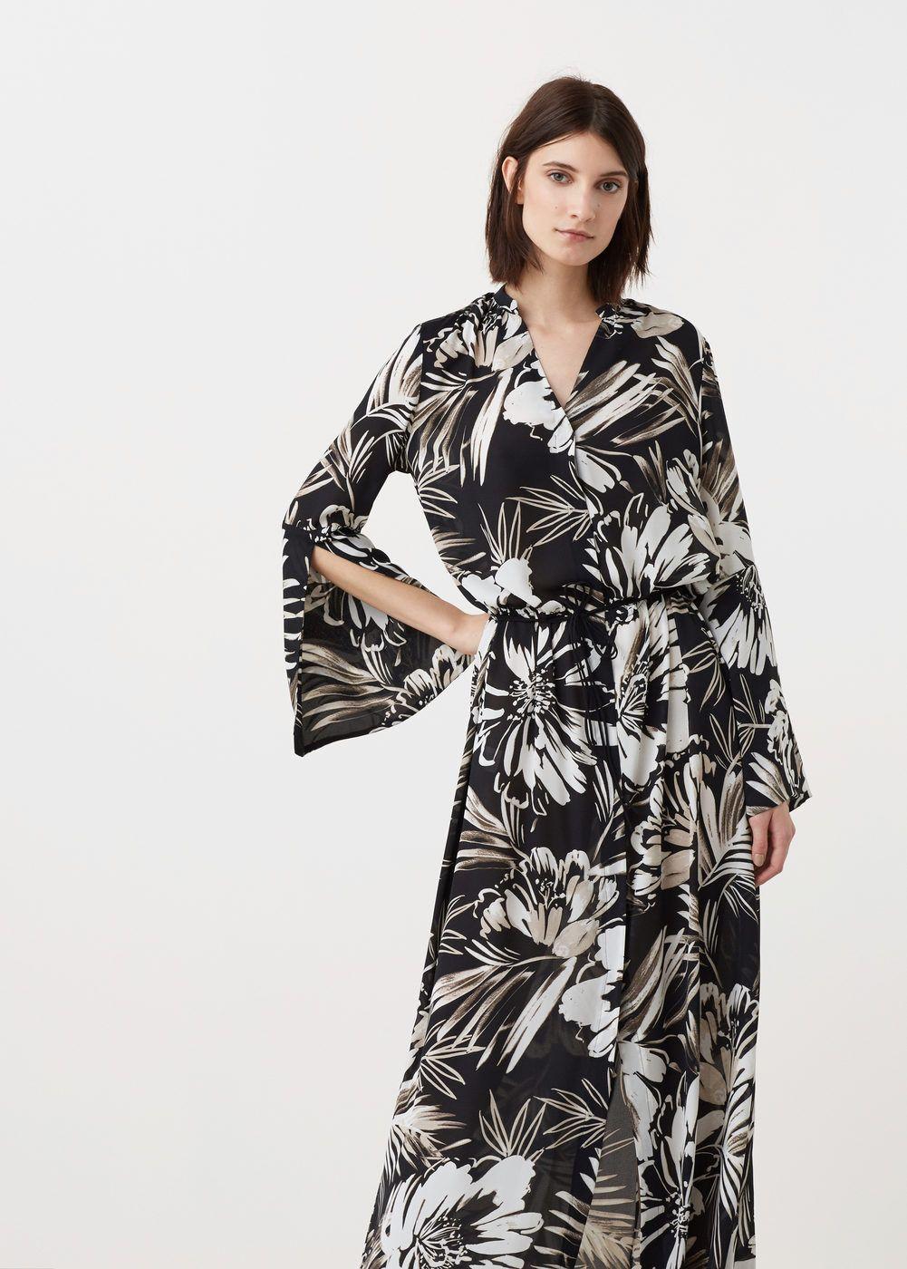 27c98685fa6 Robe fluide imprimée - Femme