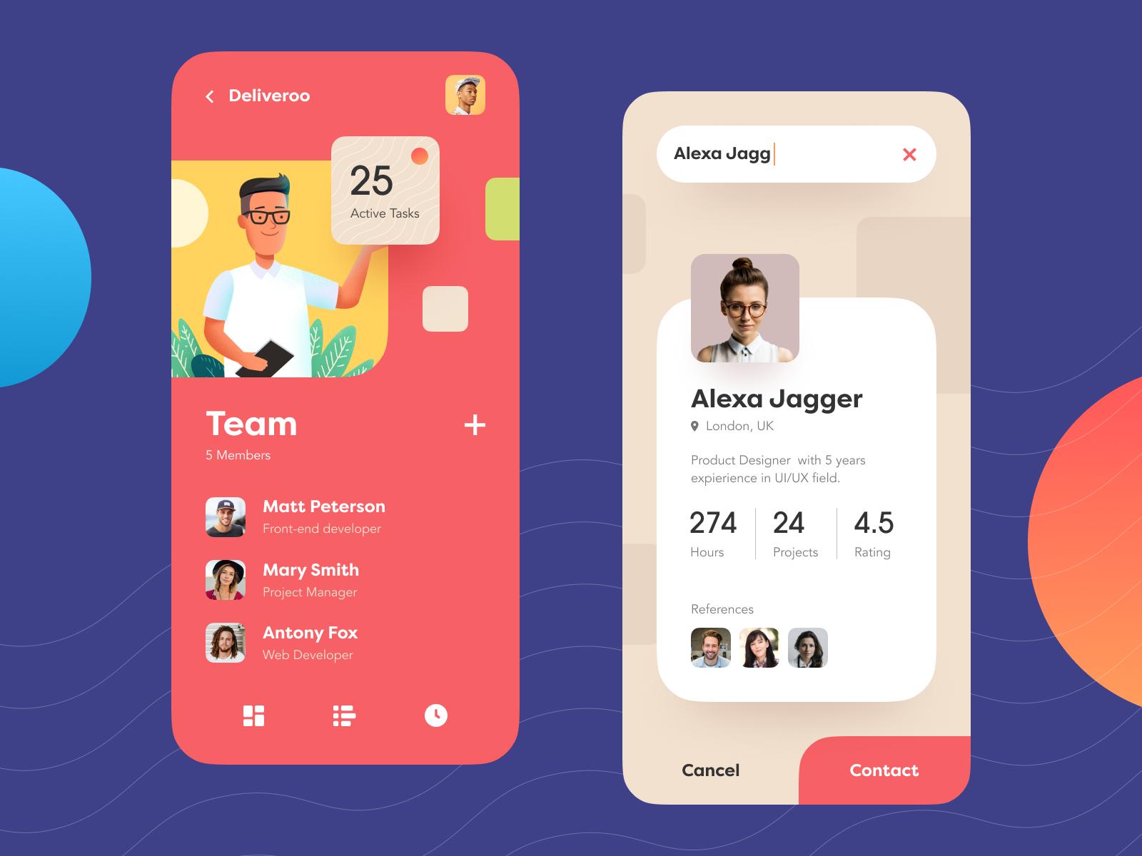 Teampoint Management App Mobile Design Inspiration Mobile Design App Design