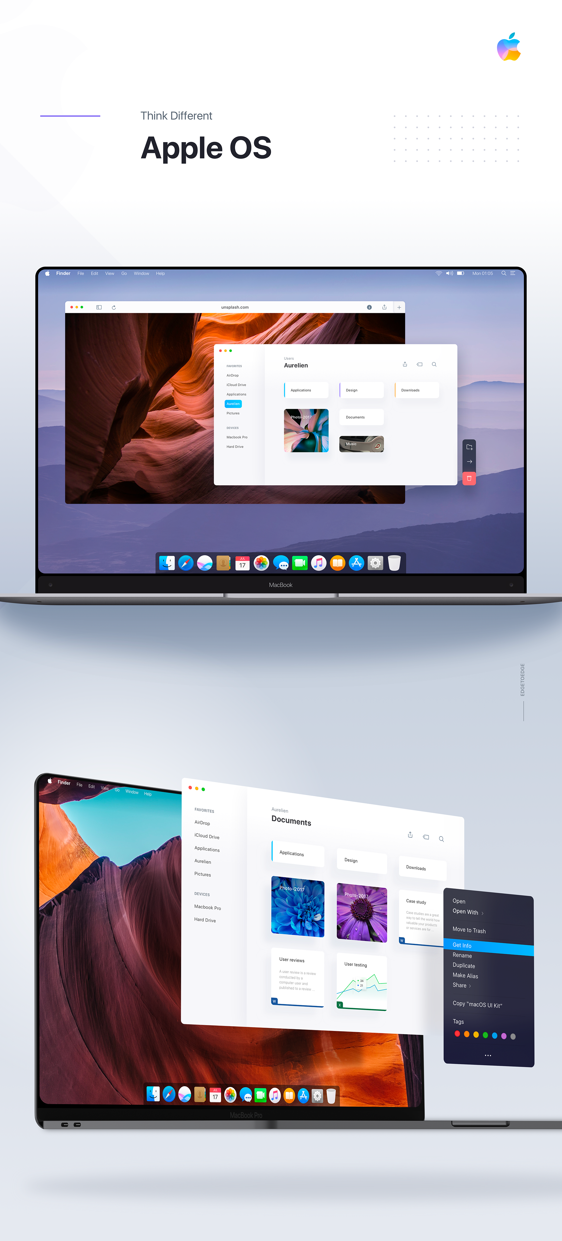 Redesigning Apple Os Macos 2020 With Edge To Edge Macbook Concept Apple Os App Design Inspiration Web Design Company