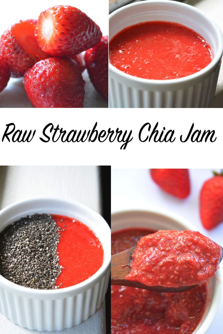Raw Strawberry Jam 4 ingredients, sugar-free & simple. From Yes, I am Vegan