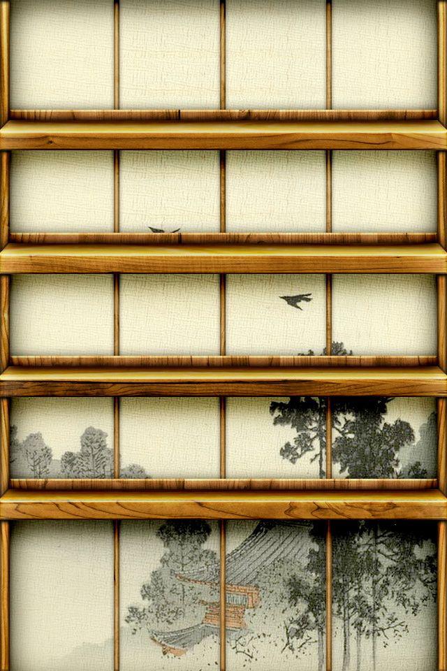 Japanese Shouji Shelf IPhone 4 Wallpaper