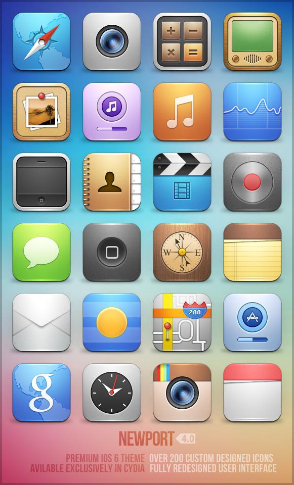 Newport iOS theme (version 4) by trentmorris on DeviantArt