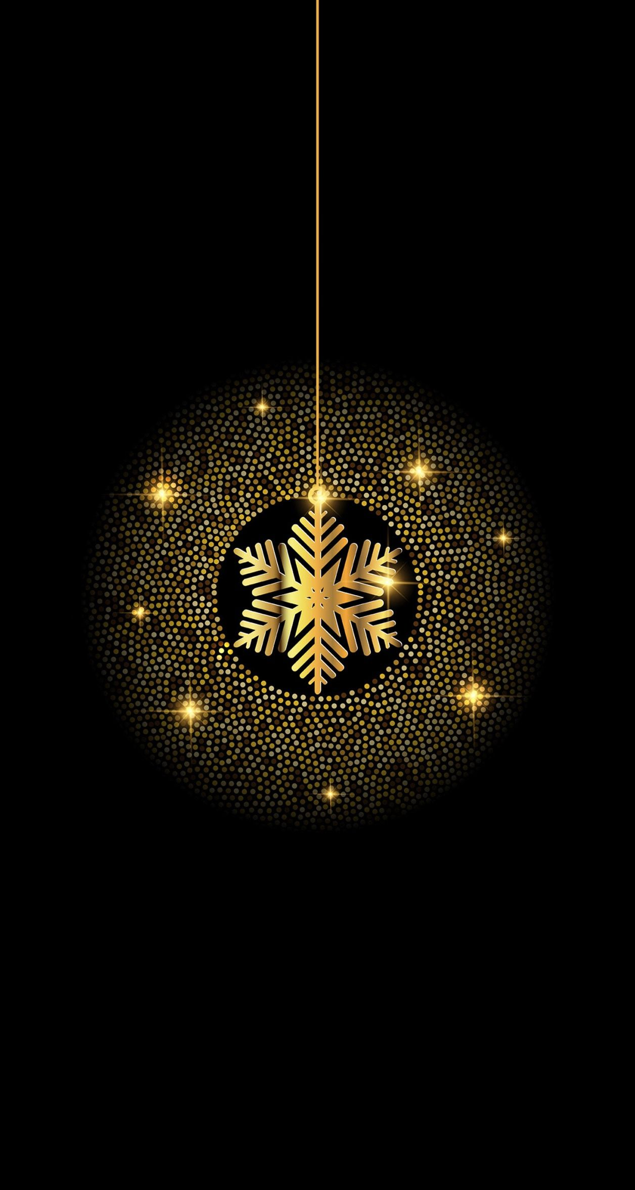 Black And Gold Snowflake Christmas In 2019 Pinterest