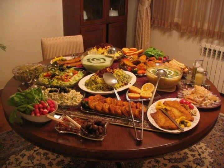Iranian Lunch Dinner Table Persian Cuisine Persian Food Iran Food