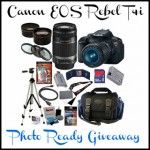 Photo Ready Giveaway! Win a Canon Rebel T4i and much more! Ends 5/14