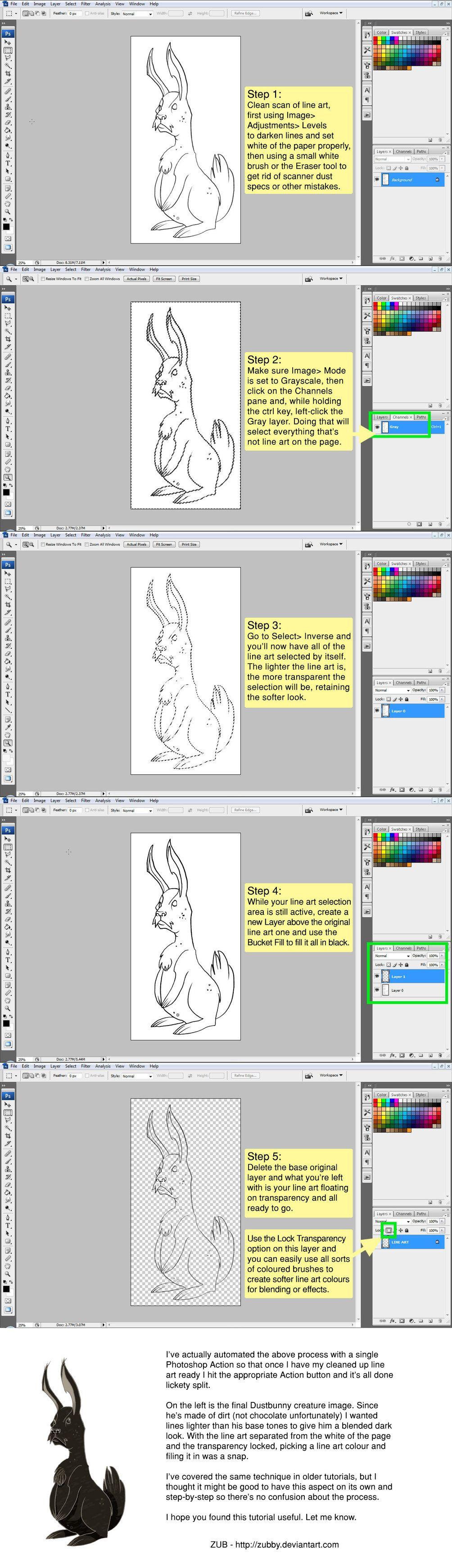 Line Art Prep Tutorial by Zubby on DeviantArt