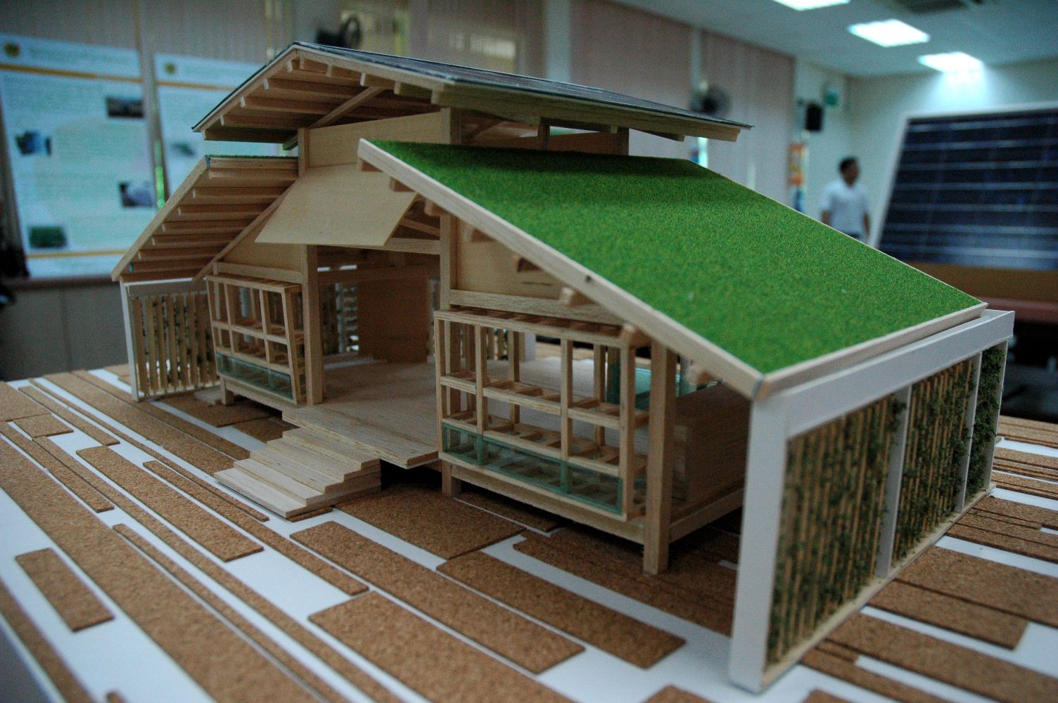 Sustainable house bamboo house design miniature green for Creative home designs