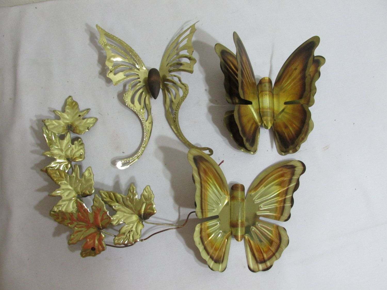 Brass Butterfly Variety Vintage Home Interior Wall Decor By